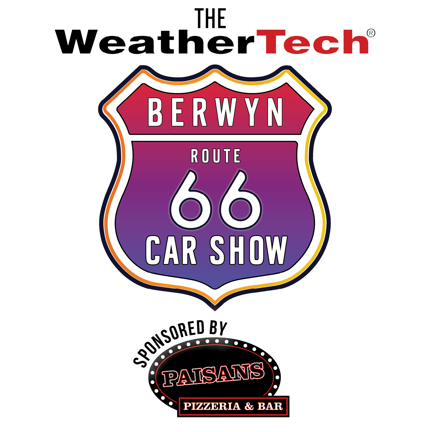 The WeatherTech Berwyn Rt66 Car Show sponsored by Paisans Pizzeria